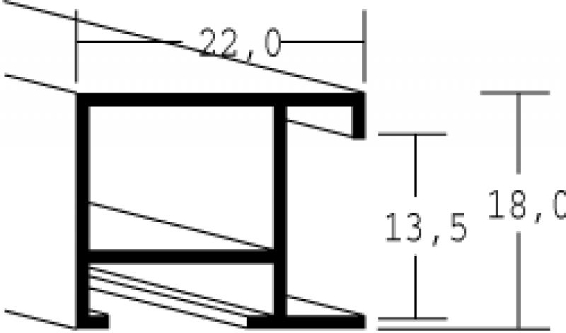 Aluminium lijsten - Nielsen Serie 097