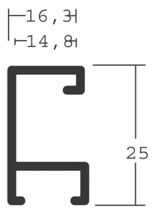 Aluminium lijsten- Nielsen Serie 215