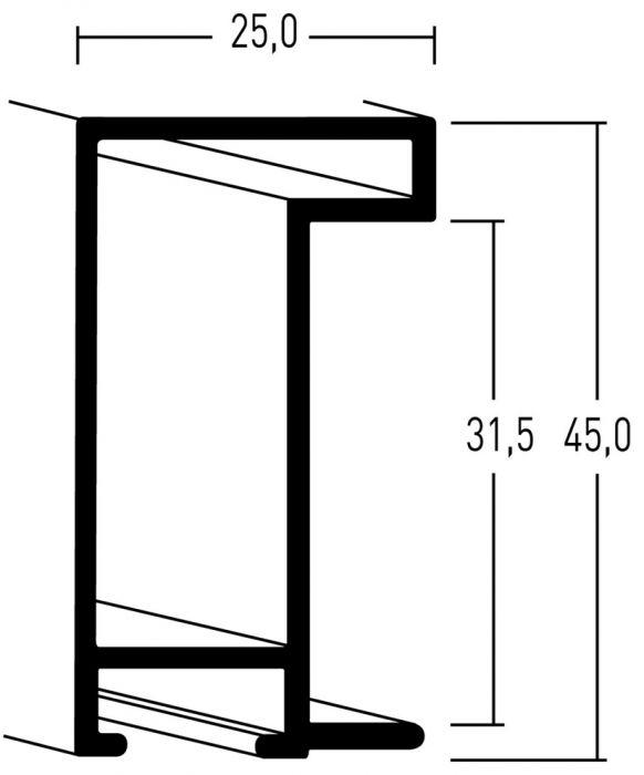 Aluminium lijsten- Nielsen Serie 222