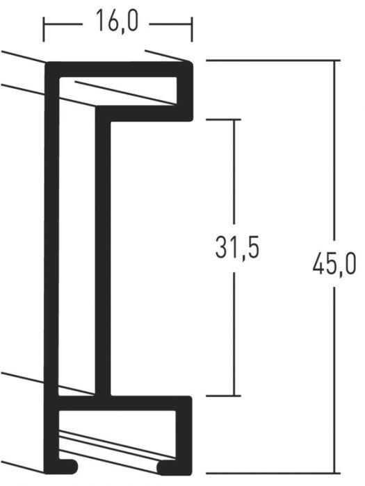 Aluminium lijsten- Nielsen Serie 224