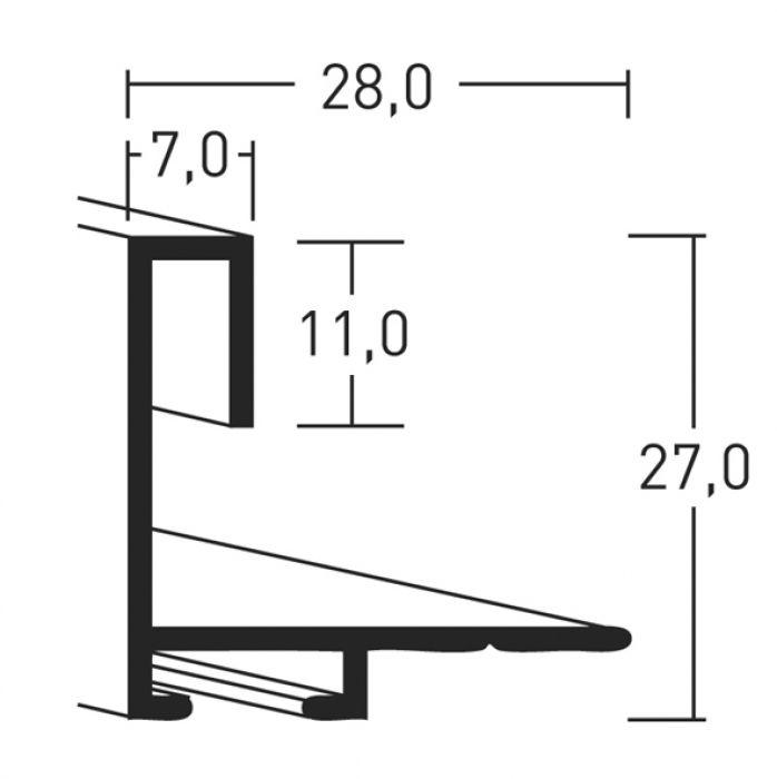 Aluminium lijsten- Nielsen Serie 271