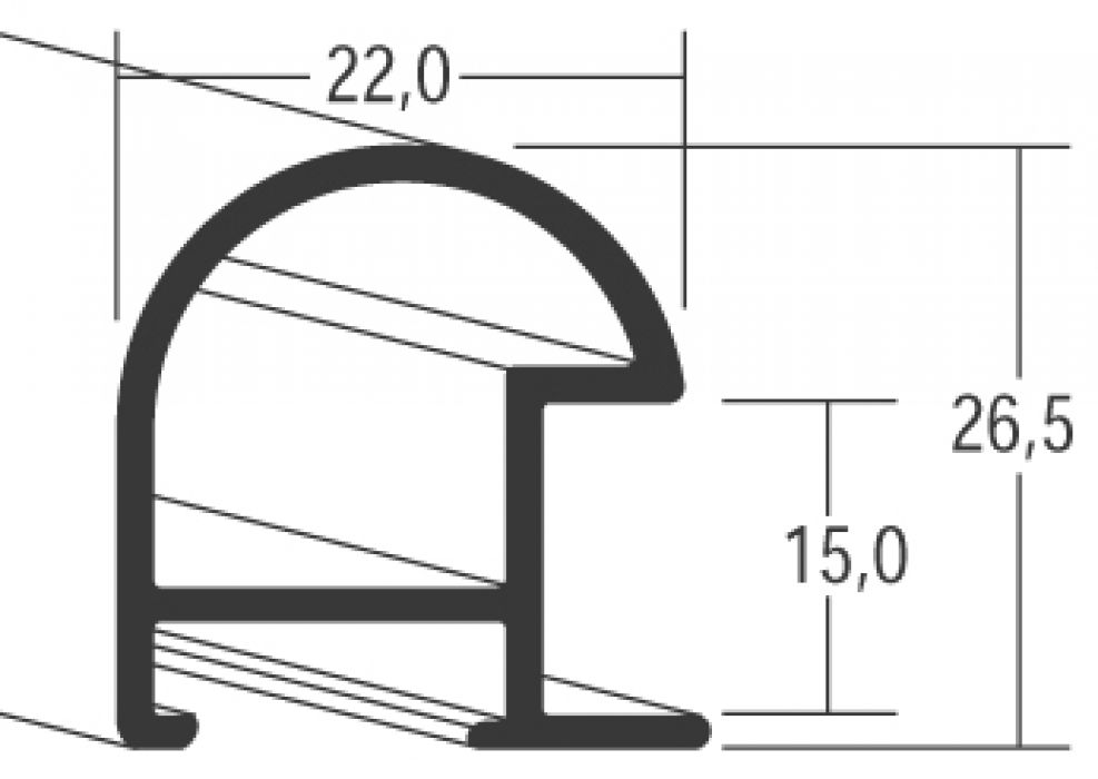 Aluminium lijsten - Nielsen Serie 75