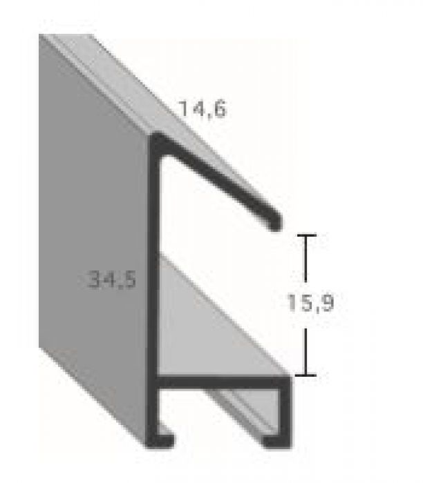 Aluminium lijsten profiel 451