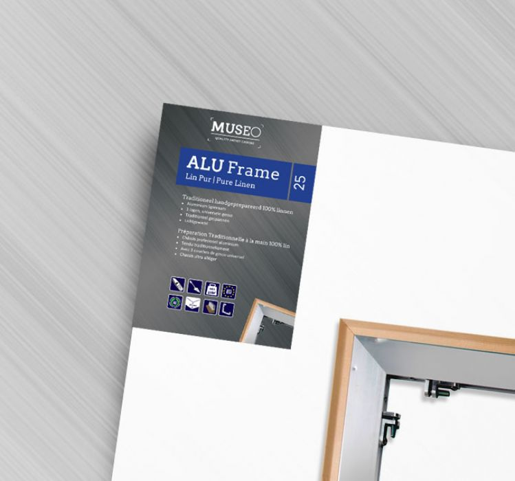 Schildersdoek Linnen op Aluminium Frame 25mm