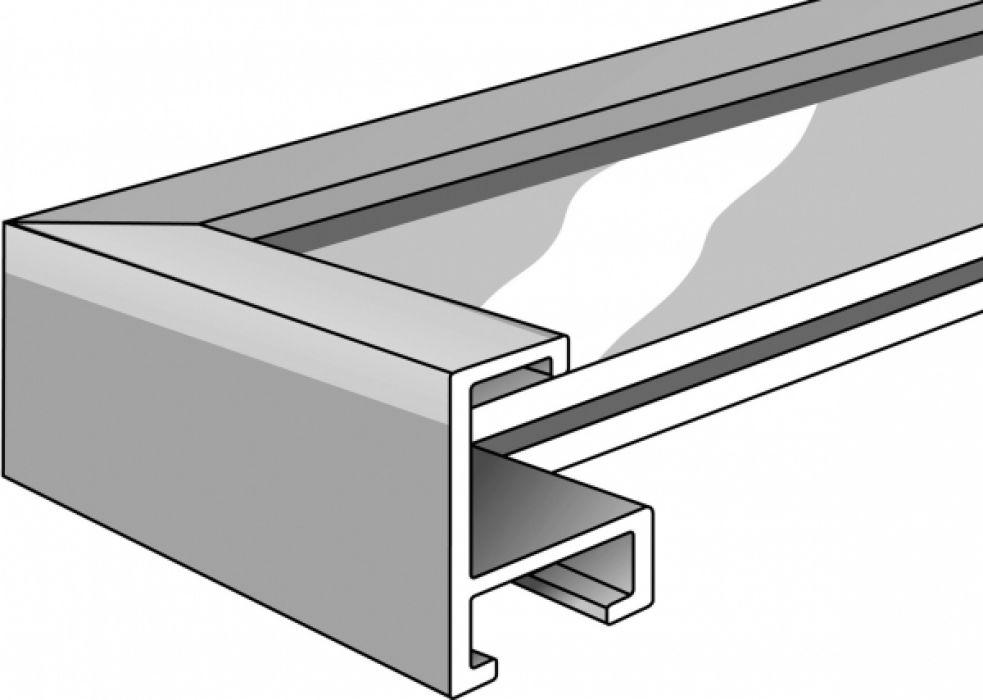 Aluminium lijst - NIELSEN - Profiel 221 - Reflex silver 221-212
