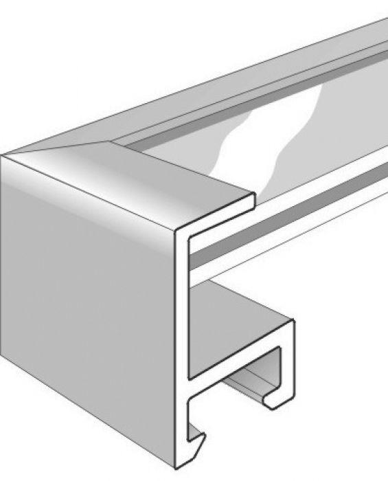 Aluminium lijst - NIELSEN - Profiel 50 - Glanzend Zilver 50-003