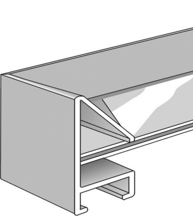 Aluminium lijst - NIELSEN - Profiel 51 - Staalgrijs 51-233