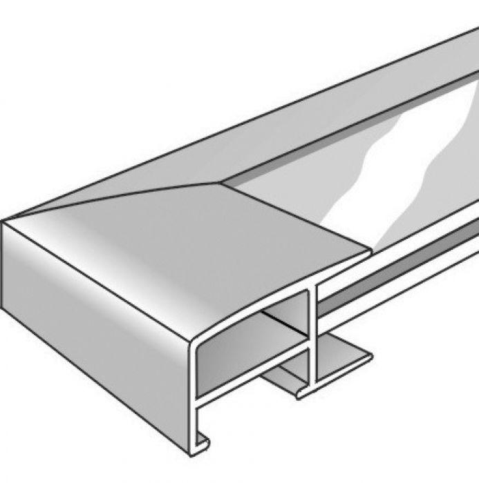 Aluminium lijst - NIELSEN - Profiel 62 - Mat Tin 62-010