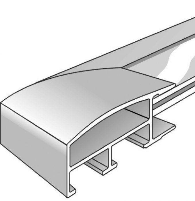 Aluminium lijst - NIELSEN - Profiel 82 - Staalgrijs 82-256