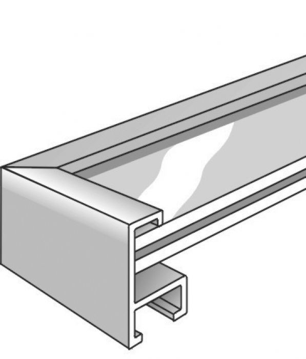 Aluminium lijst - NIELSEN - Profiel 93 - Mat Zilver 93-004