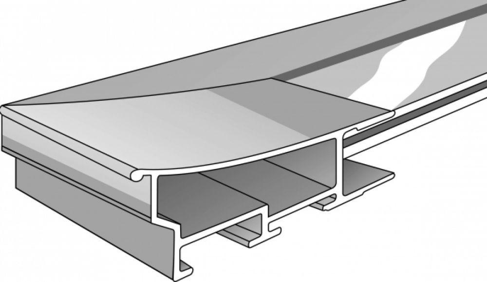 Aluminium lijst op maat Glanzend zwart 220-016