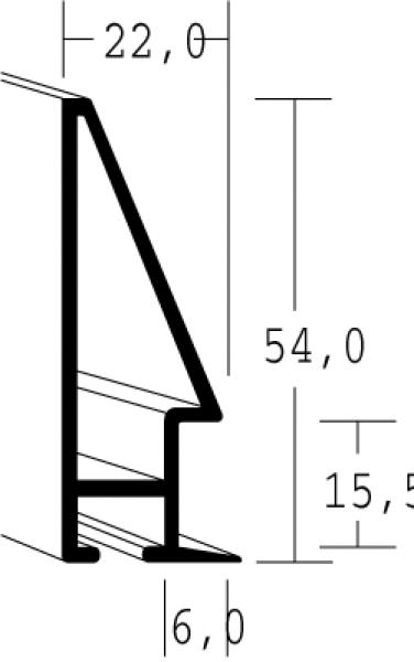Aluminium lijst - NIELSEN - Profiel 56 - Antraciet 56-006