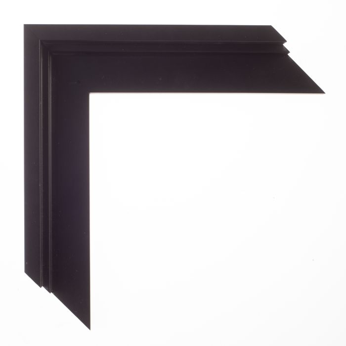 Baklijst op maat zwart/trap 10 mm