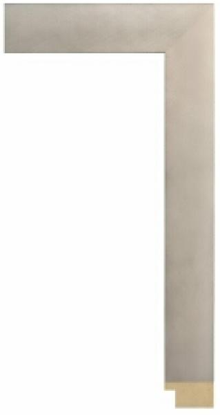 Houten lijst - - GRAMERCY - Brushed silver