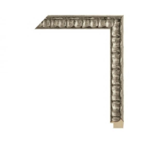 Houten lijst -- CHATEAU - Castille silver breed 38 mm