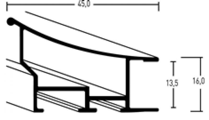 Aluminium lijst - NIELSEN - Profiel 220 - Glanzend zilver 220-003