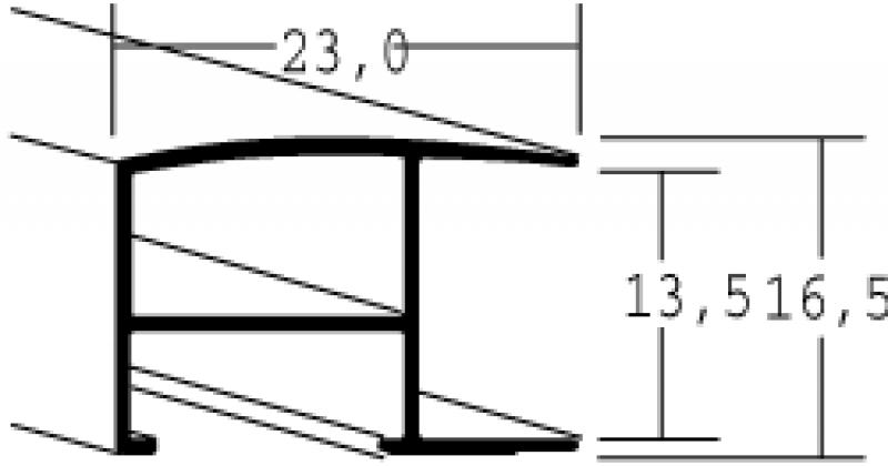 Aluminium lijst - NIELSEN - Profiel 62 - Glanzend Zwart 62-016