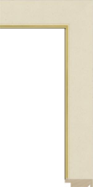 Schilderijlijst op maat Goud breed 40 mm