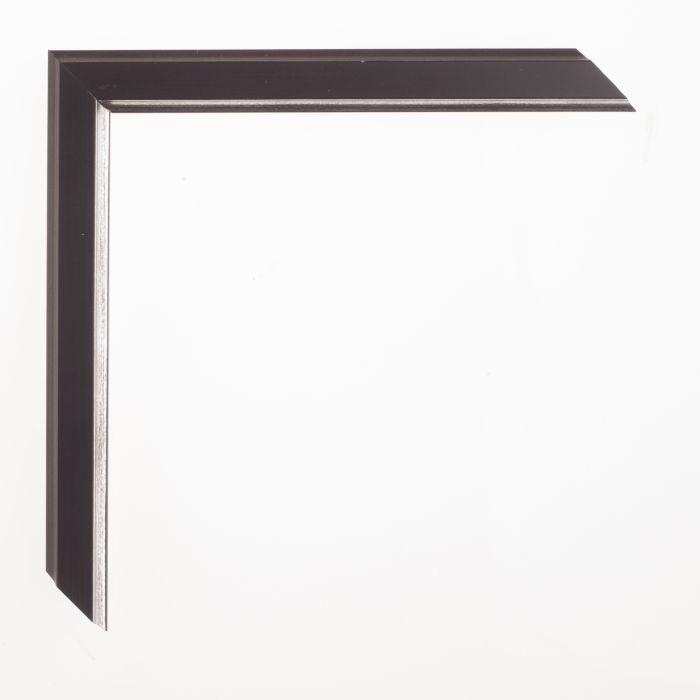 Houten lijst - Aicham - APART - Altbirnbaum mit Silber 18 mm