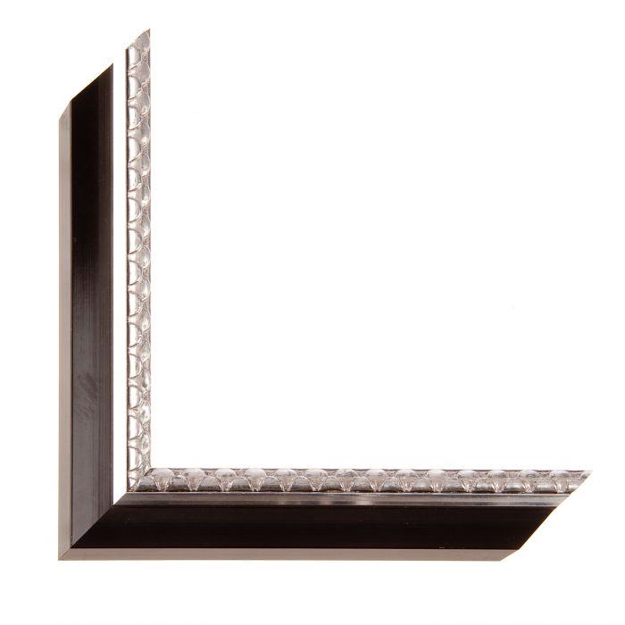 Houten lijst art deco zwart zilver biesl breed 31 mm - Houten deco ...