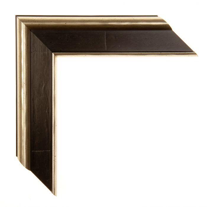 Houten lijst -  - CANALETTO - Ebony zwart breed 45 mm