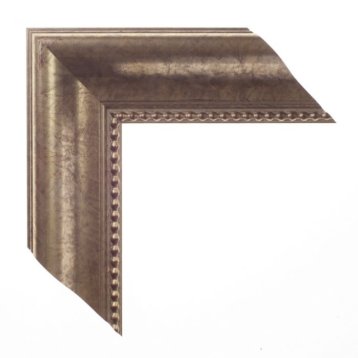 Houten lijst -ESSENTIAL II - Warm zilver kraal 66 mm