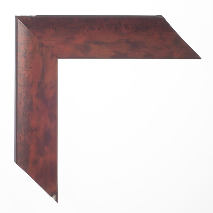Houten lijst - - FLORENTINA - Rood  breed 43 mm