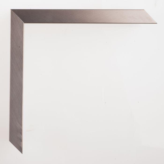 Houten lijst -- GRAMERCY - Brushed silver breed 16 mm