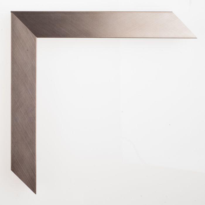 Houten lijst - GRAMERCY II - Brushed silver 25 mm