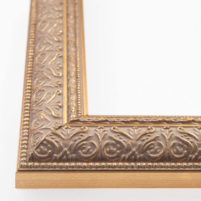 Houten lijst - IMPERIAL - Ornament goud smal 34 mm