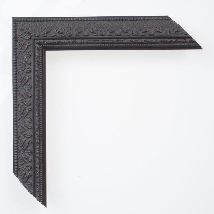 Houten lijst - IMPERIAL - Ornament zwart smal 34 mm