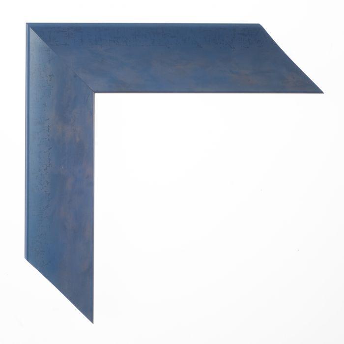 Houten lijst op maat Blauw  breed 43 mm