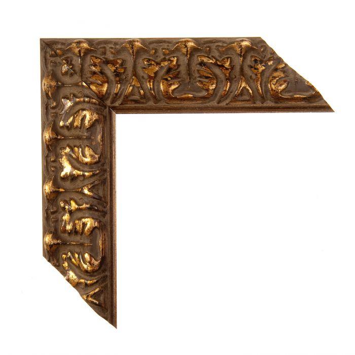 Houten lijst -  PRAGUE - Donker goud  breed 52 mm