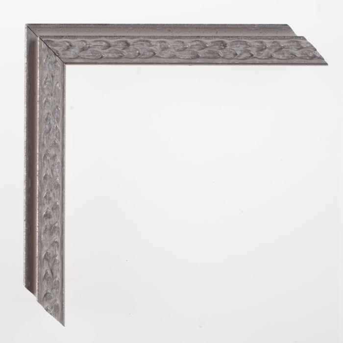 Houten lijst -- SOFIA - High rebate silver zilver breed 23 mm