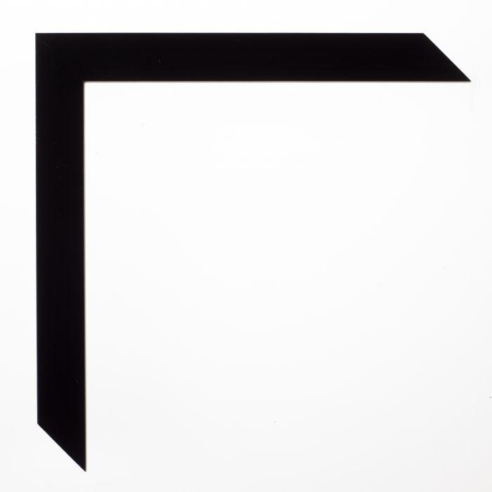 Houten lijst - TRIBECA - Black high squared 19 mm