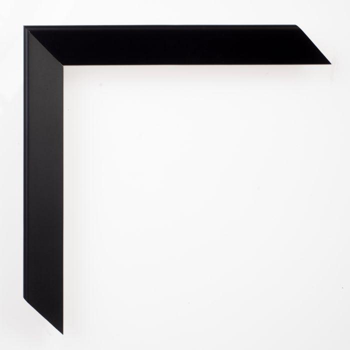 Houten lijst - TRIBECA - Black slope zwart breed 22 mm