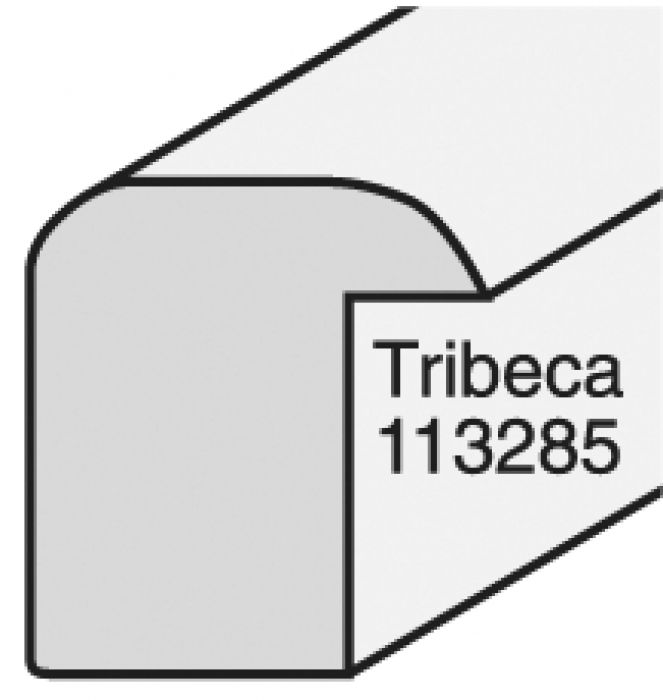Houten lijst - - TRIBECA - White small round breed14 mm