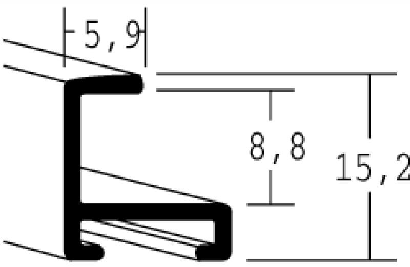 Nielsen Aluminium lijst op maat Licht Brons 04-011