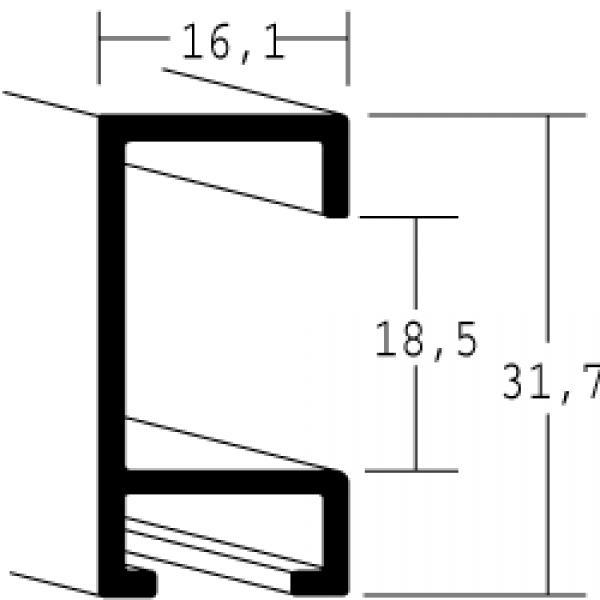 Aluminium lijst - NIELSEN - Profiel 94 - Mat Zilver 94-004