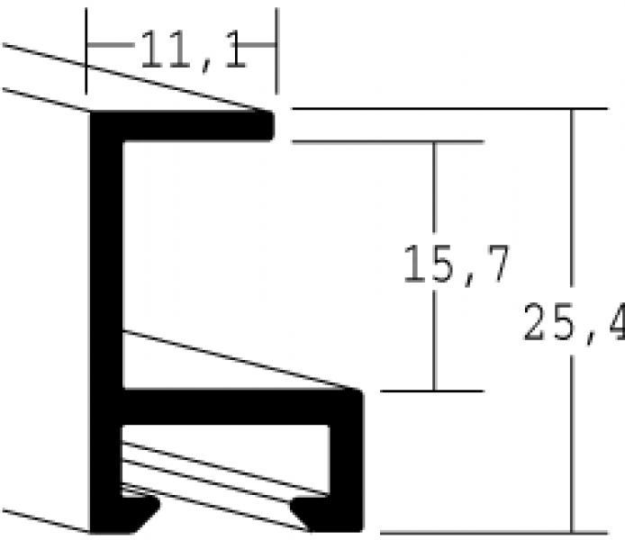 Aluminium lijst - NIELSEN - Profiel 50 - Mat Zwart 50-021