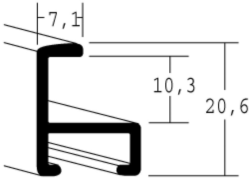 Nielsen Aluminium lijst op maat-Mercury Structuur 11-327