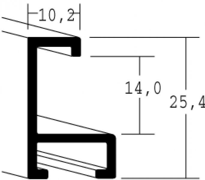 Aluminium lijst - NIELSEN - Profiel 93 - Platina 93-019