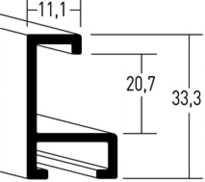 Aluminium lijst - NIELSEN - Profiel 221 - Purple Haze 221-214