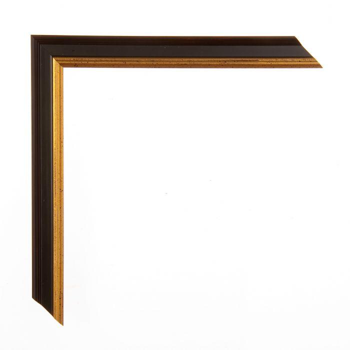 Schilderijlijst op maat zwart/goud breed 18 mm