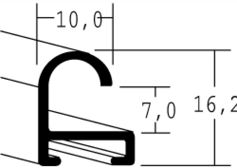 Nielsen Aluminium lijst op maat Walnoot Structuur 07-318