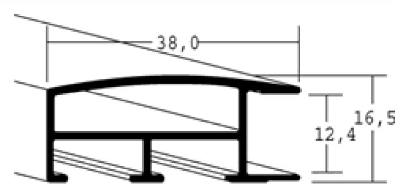 Aluminium lijst - NIELSEN - Profiel 82 - Zwart Structuur 82-316