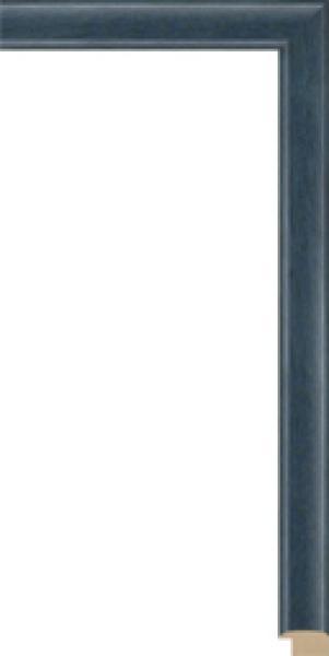 Houten lijst op maat blauw breed 23 mm