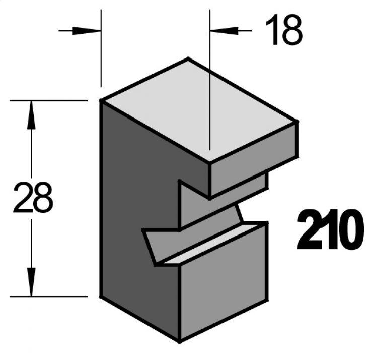Barth wissellijst 210 ongelakt massief essen  210-111