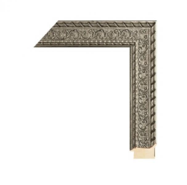 Houten lijst - - CHATEAU - Florentine silver breed 55 mm