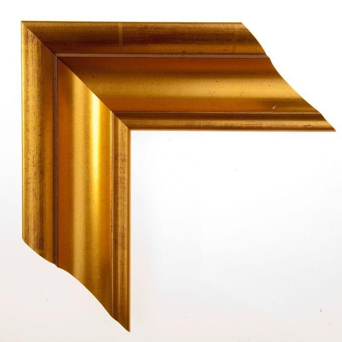 Houten lijst -  ACADEMIE - Gold  breed 76 mm